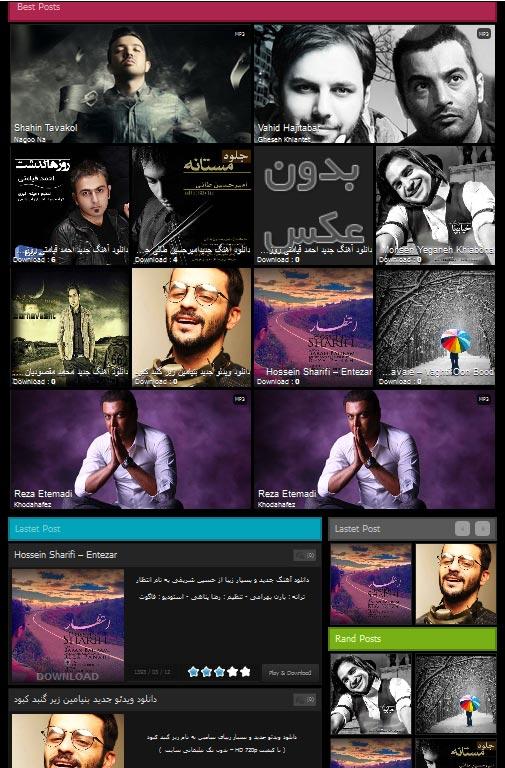 دانلود جدیدترین قالب تهران موزیک TehranMusic V.2 2014 مخصوص رزبلاگ